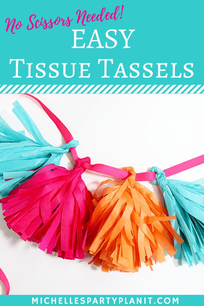 Tissue tassels
