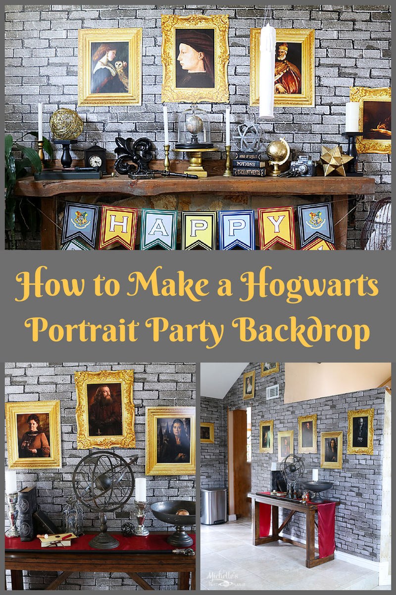 photo relating to Hogwarts Portraits Printable called Hogwarts Impressed Do it yourself Portrait Backdrop - Whip It Up