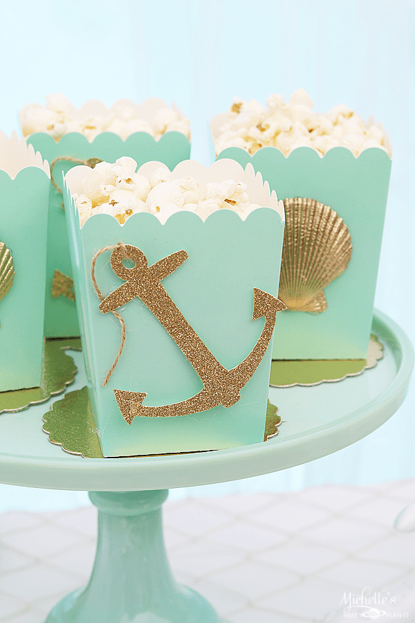 Sip & Sea Gender Reveal Party Popcorn Boxes