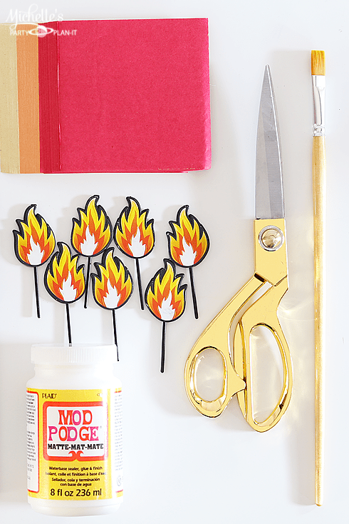 Easy Firefighter Party Decorations - Supply list