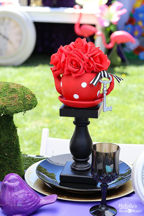 Mad Hatter Tea Party Centerpiece - Tea Pots