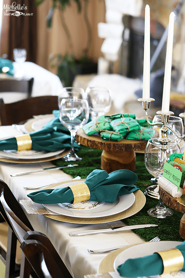 Lord of the Rings Party Table settings