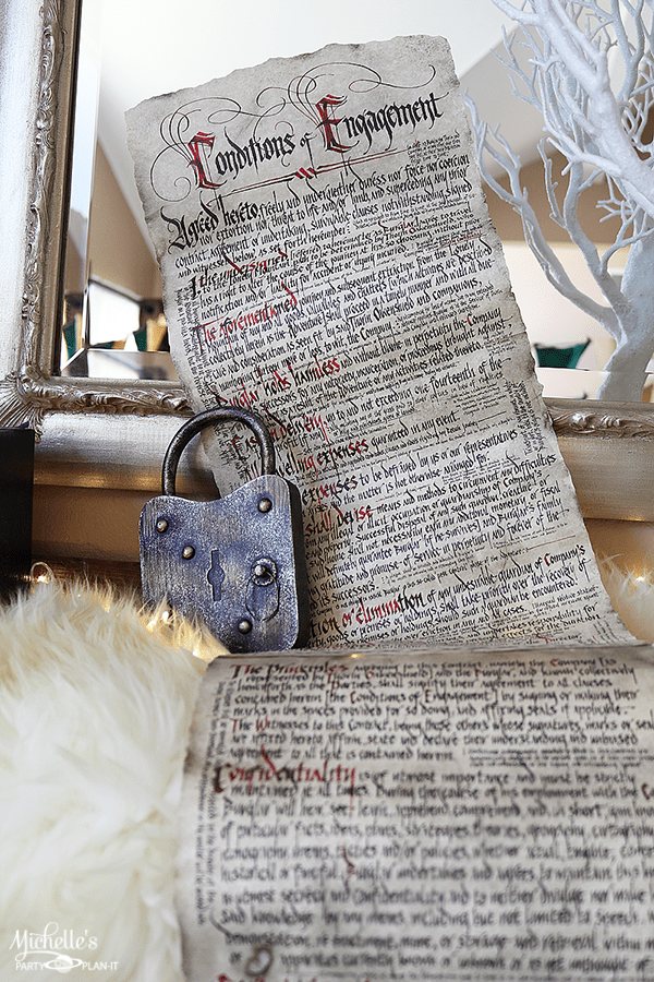 Lord of the Rings Party Decor - Bilbo's Contract