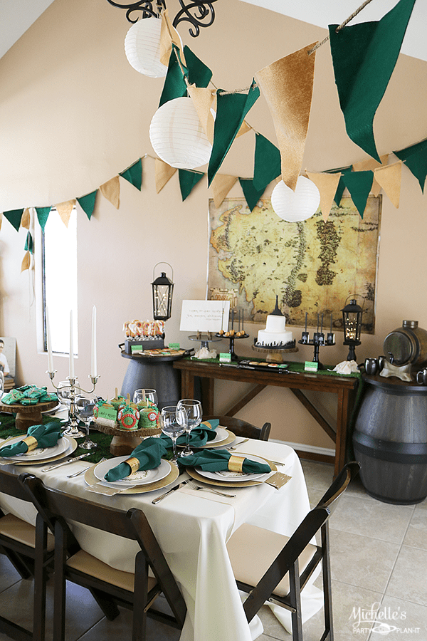 Lord of the Rings Graduation Party - tablescape