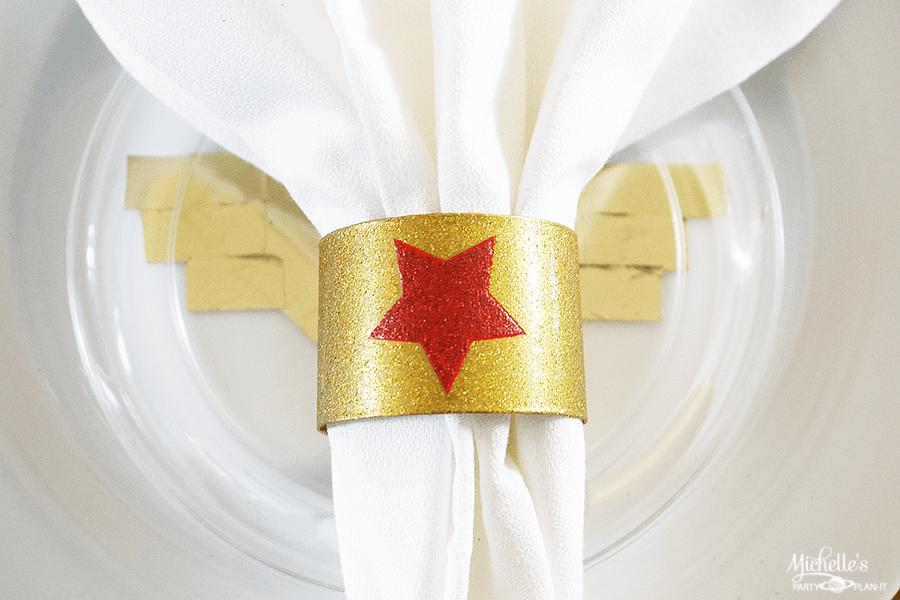 Wonder Woman Napkin Rings
