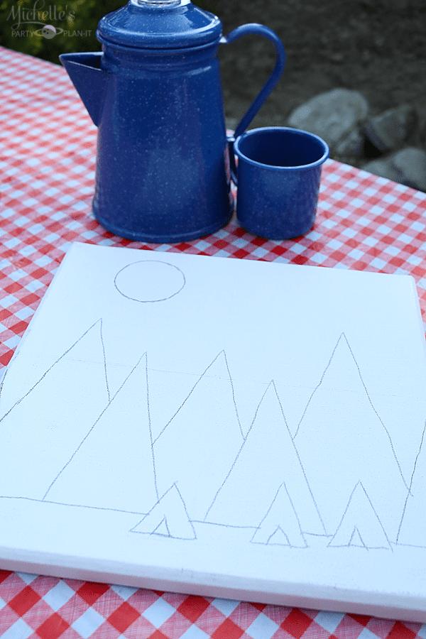 Camping Artwork - drawing