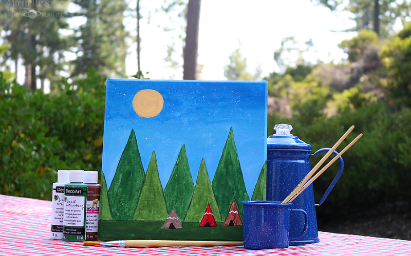 Camping with social artworking 9