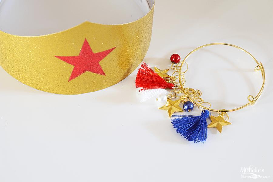 Wonder Woman Charm Bracelet Party Favor