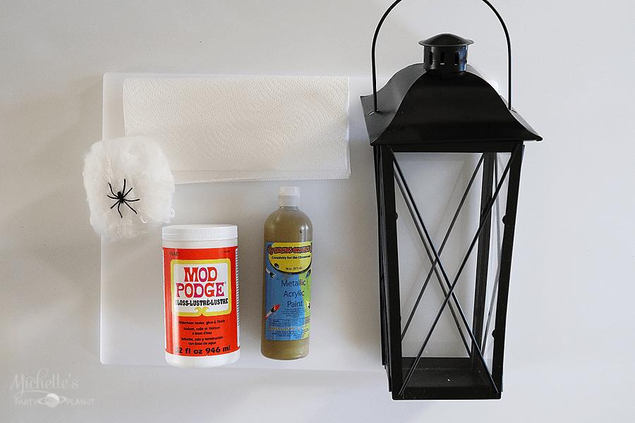 DIY Halloween Lanterns Supplies