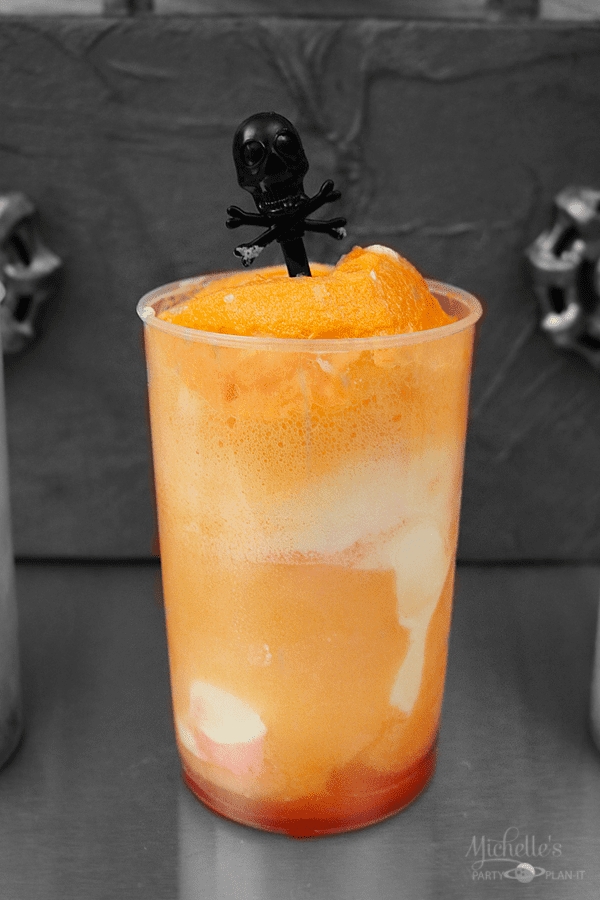 Blood Orange Ice Cream Float
