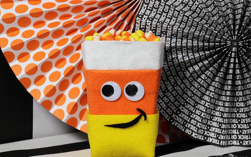 Candy corn popcorn box