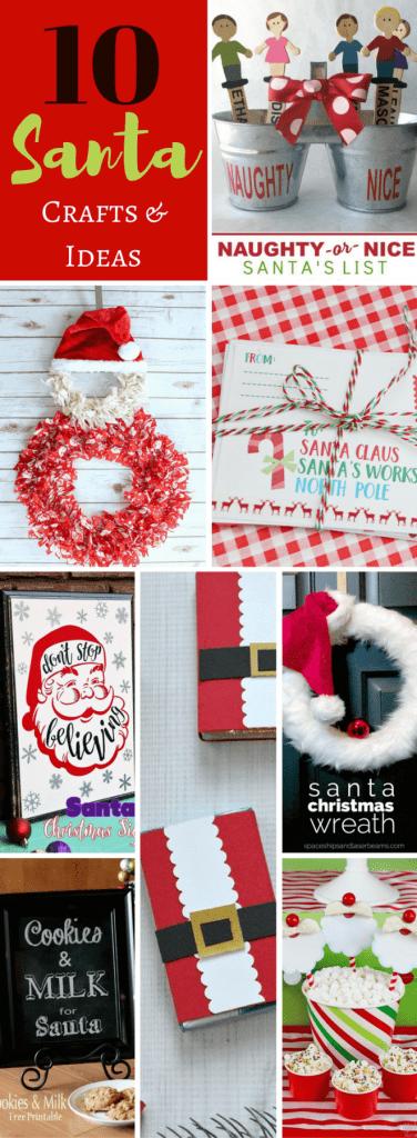 10 Santa Crafts and Ideas