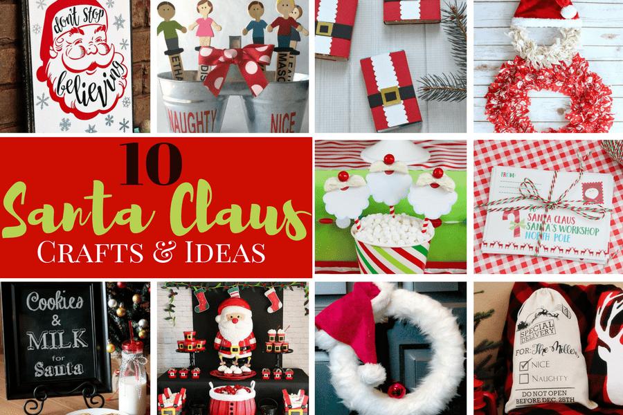 10 santa crafts and ideas - Santa Crafts