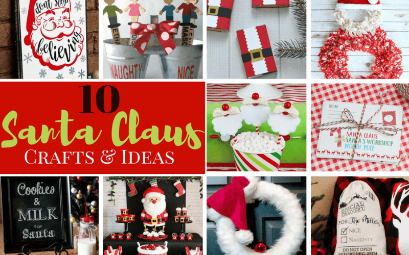 10 Fun Santa Crafts and Ideas