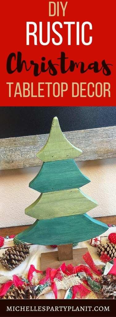 DIY Rustic Christmas Tabletop Decor