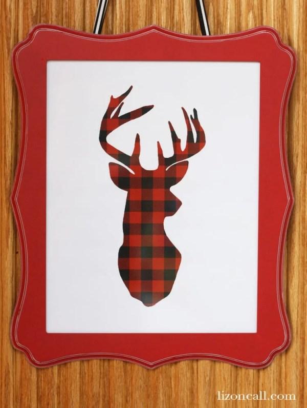Deer Silhouette Printable