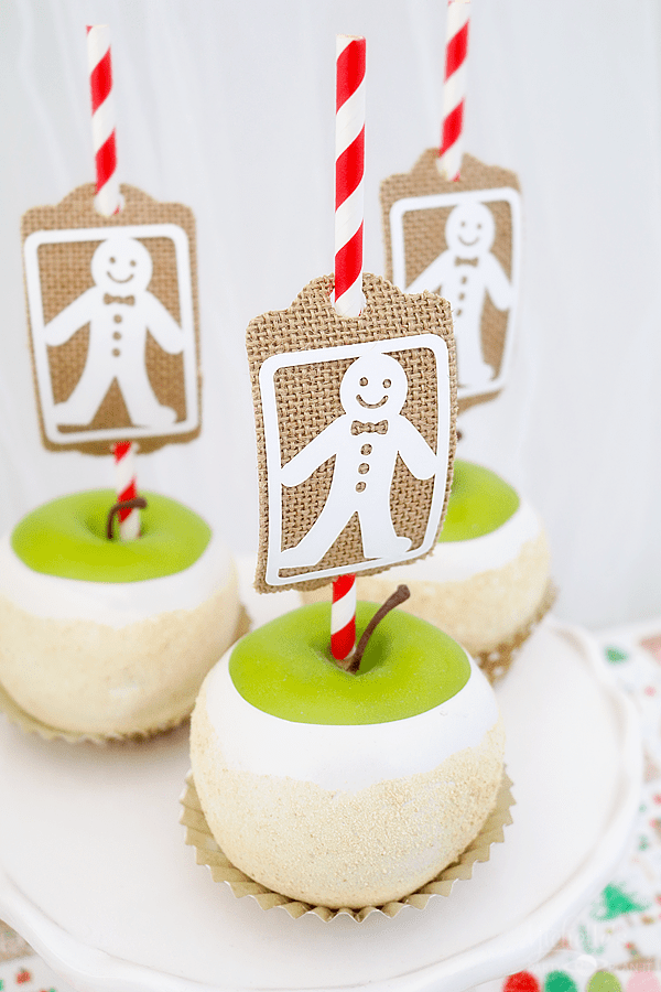 Gingerbread Party Candy Apples