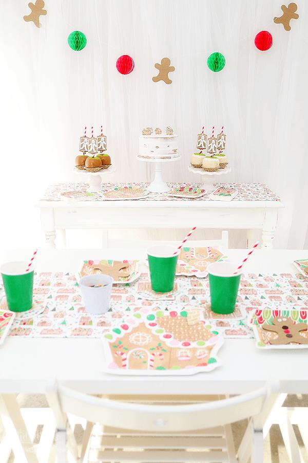 Gingerbread Man Christmas Party Idea w/ Cricut by Michelle Stewart