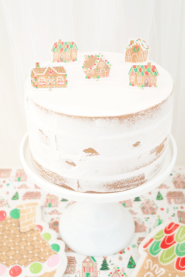 Gingerbread House Cake Toppers