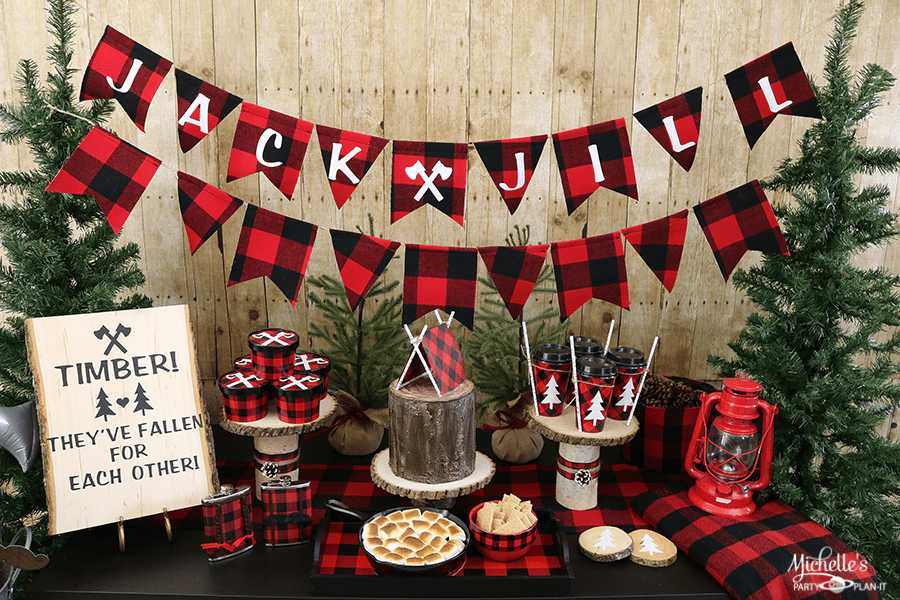 Couples Christmas Party Ideas Part - 37: Lumberjack And Jill Couples Shower