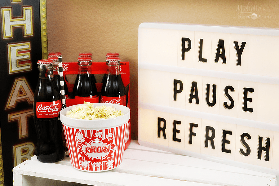 Play Pause Refresh with Coca Cola | TV Night Popcorn Bar