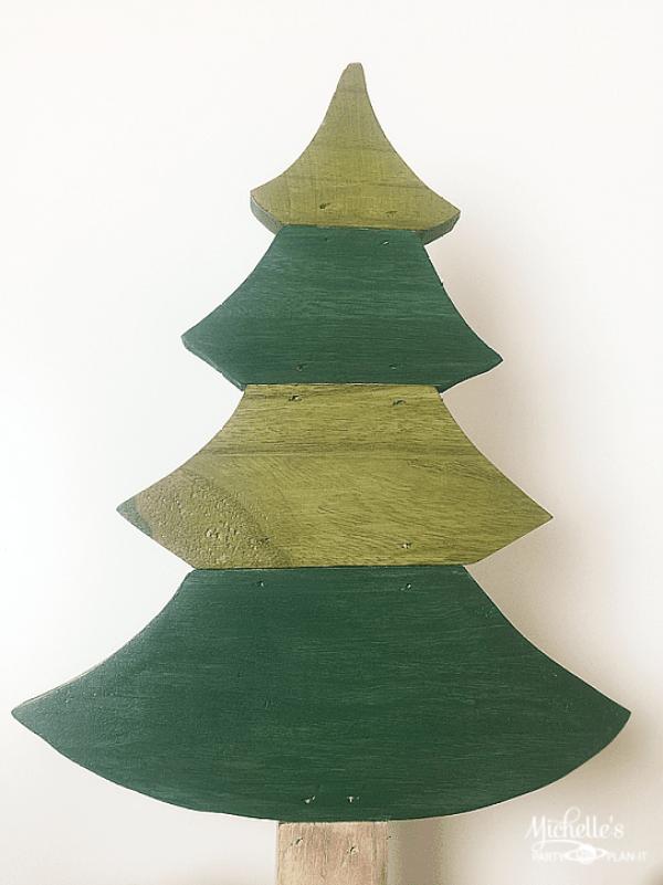 rustic christmas tree painted