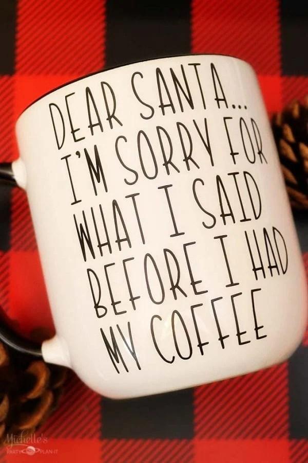 Dear Santa Mug - Gift Idea