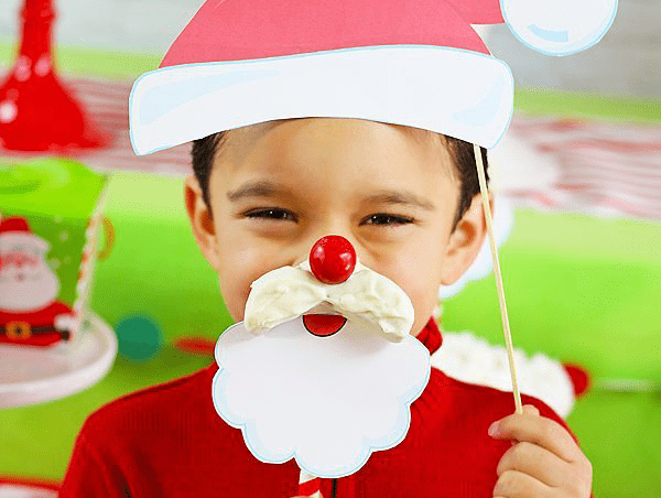 Easy Santa Cookie Photo Props