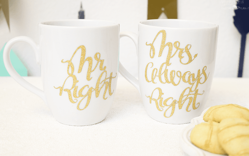 Mrs right mug sets