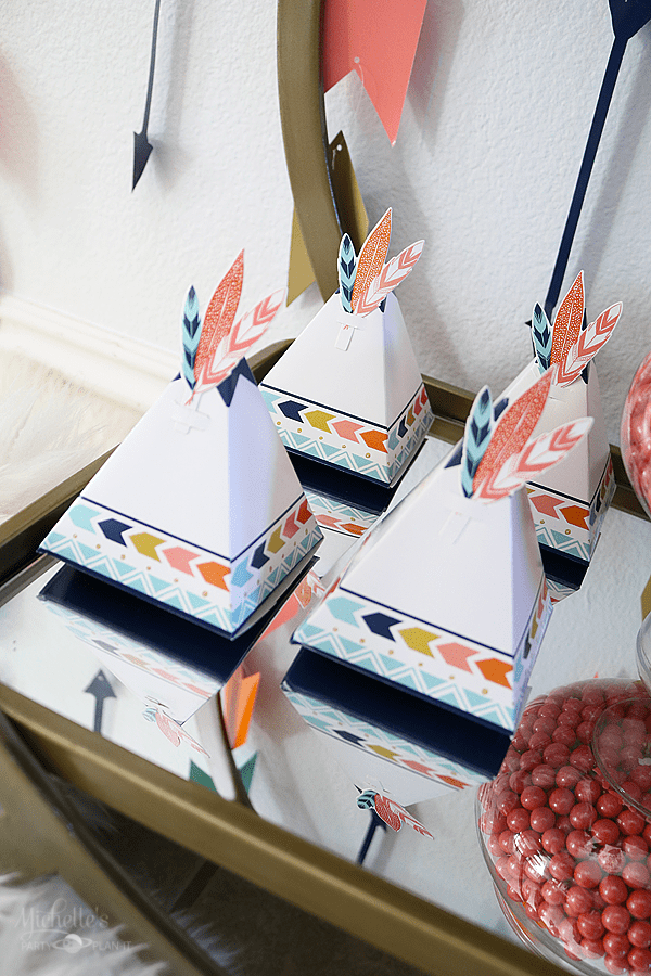 Tee Pee Party Favor Boxes