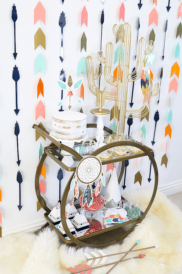 Boho Tribal Party - Bar Cart