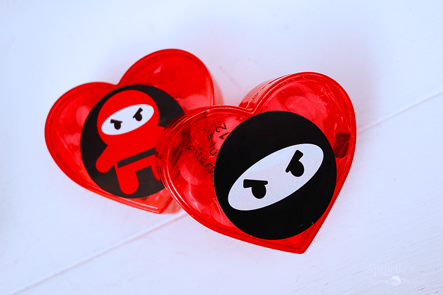 You Stole My Heart Valentine Party Favors - Ninja Valentine's Day Party