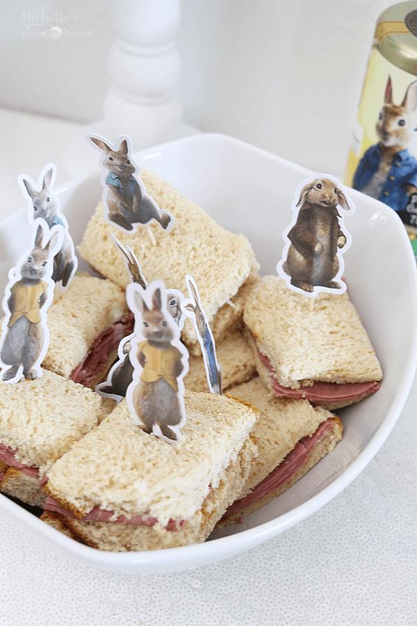 Peter Rabbit and Cost Plus World Market - tea sandwiches