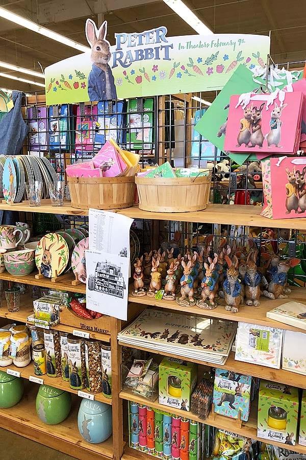 peter rabbit merchandise