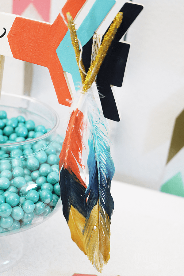 Tribal Gender Reveal DIY Feathers