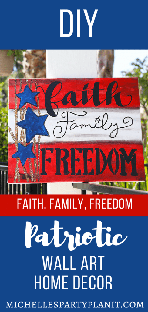 Diy patriotic wall art home decor