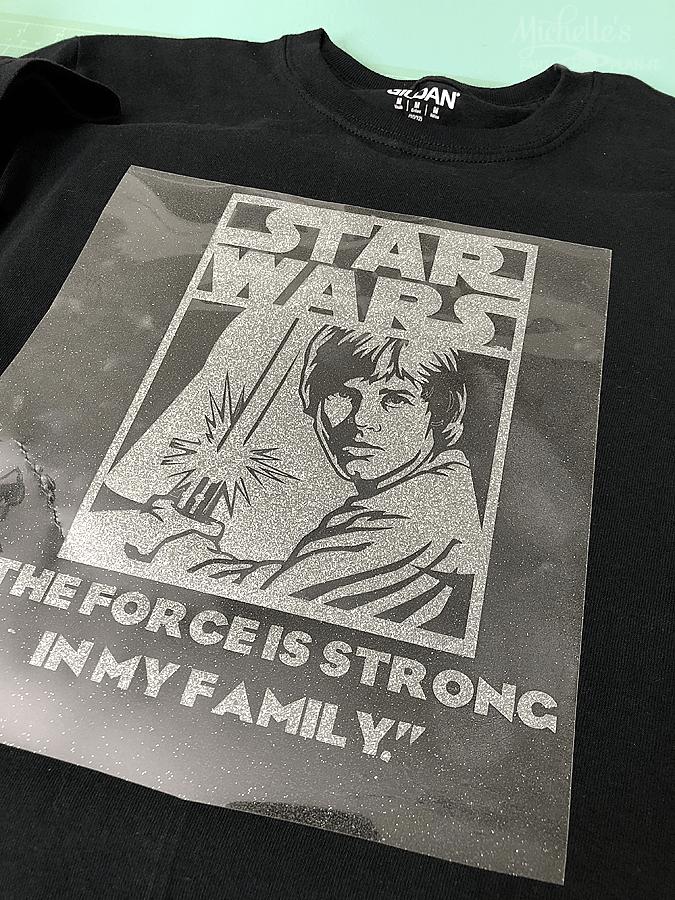 DIY Star Wars Shirt Cricut Vinyl