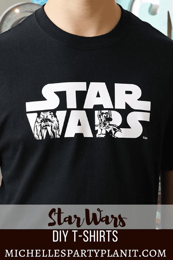 DIY Star Wars Shirt Ideas - Star Wars Logo Chewbacca C3PO