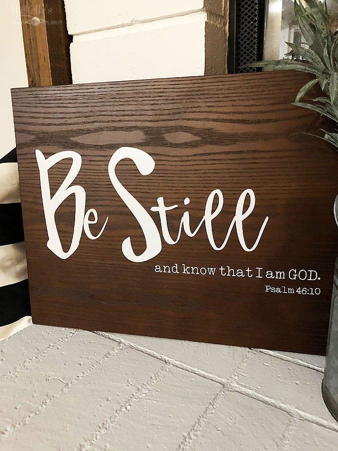 DIY Scripture Sign