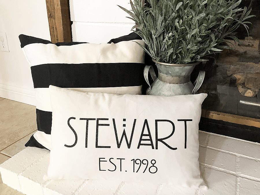 DIY Home Decor - How to Personalize a Pillow with Cricut