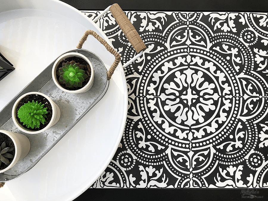 How to stencil tile with vinyl and cricut
