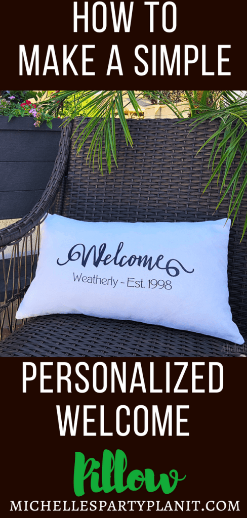DIY Personalized Welcome Pillow