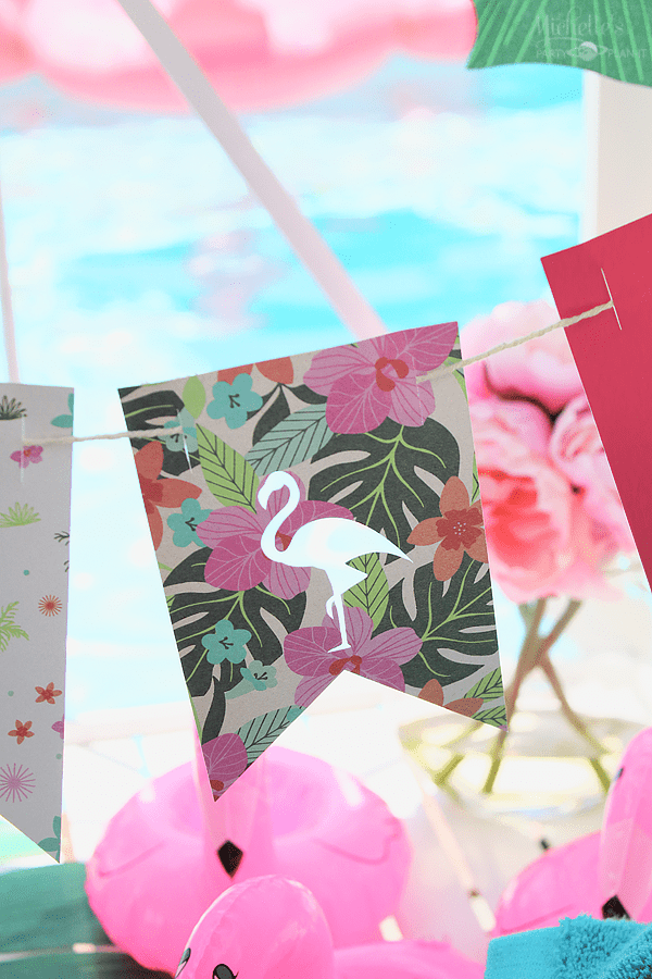 End of Summer Flamingo Party Banner