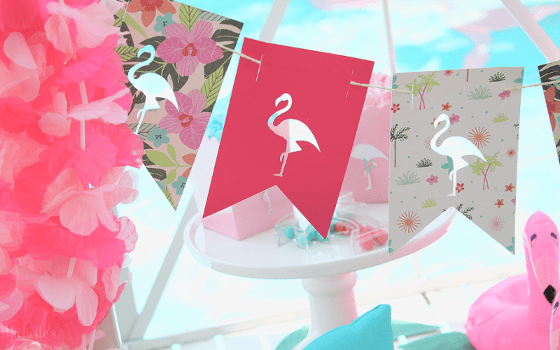 End of summer flamingo party banners 1