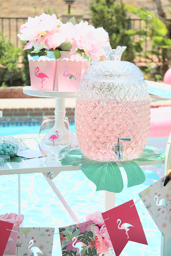 End of Summer Flamingo Party Pineapple Beverage Container