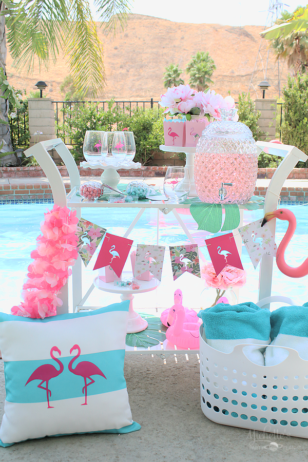End of Summer Flamingo Party by the Pool