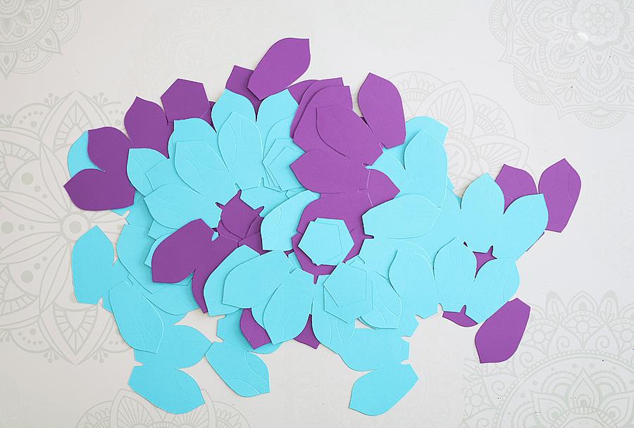 Making paper flower tealights