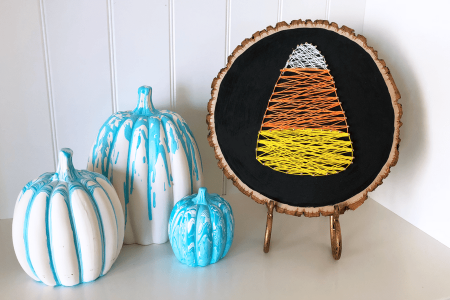 How to Make Candy Corn String Art