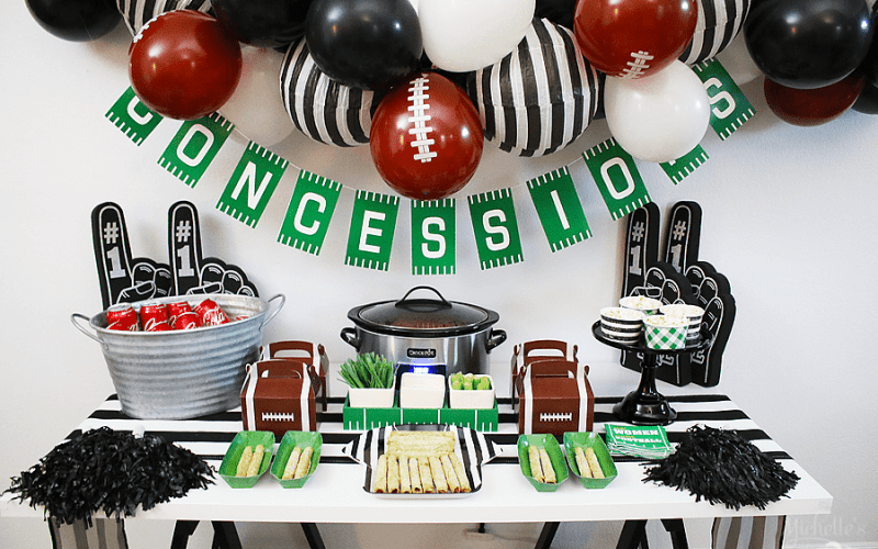 Easy Football Party Ideas + FREE FOOTBALL BINGO PRINTABLE