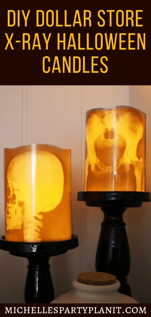 How To Make X Ray Halloween Candles In Under 15 Minutes